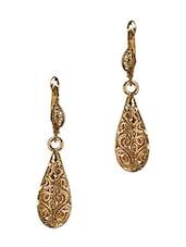 Tear Drop Gold Plated Drop Earrings - JEWELIZER