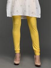 Cotton Lycra Plain Leggings - Vivomo