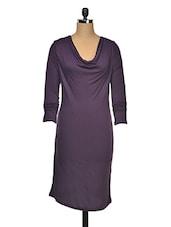 Cowl Neck Viscose Bodycon Dress - Wildrose