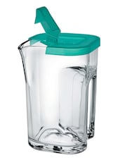 Delicate Transparent Jug with Green Lid -  online shopping for Decanters