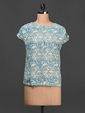 Printed Cap Sleeves Georgette Top - LA ARISTA