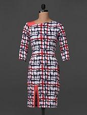 Quarter  Sleeves Printed Poly Knit Dress - Bella Rosa