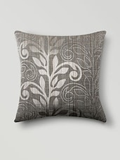 Grey Poly Cotton Set Of 5 Cushion Covers - By - 1019938