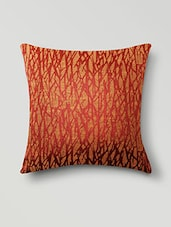 Red Poly Cotton Set Of 5 Cushion Covers - By