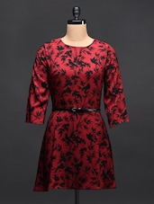 Red Printed Dress - TREND SHOP