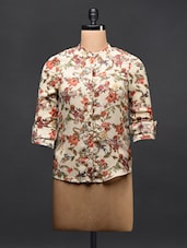 Beige Floral Shirt - TREND SHOP