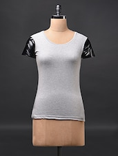 Grey Short Sleeve Cotton Tees - Fashionexpo