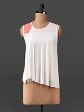 Sleeveless Round Neck Top - By