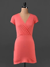 Pink Overlap Neck Dress - Northern Lights