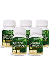 Garcinia Cambogia Capsules 60's Fat Burner, Weight Loss, Obesity Control (Pack Of Five) - By