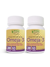 Omega3 Fatty Acids (Omeja3) Capsules 60's - Dieatry Supplement, Eye & Brain, Heart Care, Joint Pain, Bone Density (Pack Of Two) - By