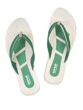 Green Strap Flat Sandals - Touchwood