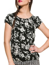 Black Floral Printed Top - ZOVI