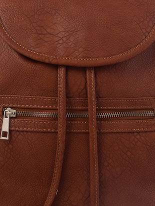 brown leatherette backpack - 10235827 - Standard Image - 4