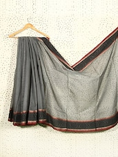 Grey Art Silk And Cotton Banarasi Saree - Prabha Creations