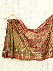 Iridescent Art Silk Banarasi Saree - Prabha Creations