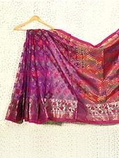 Iridescent Purple Art Silk Banarasi Saree - Prabha Creations