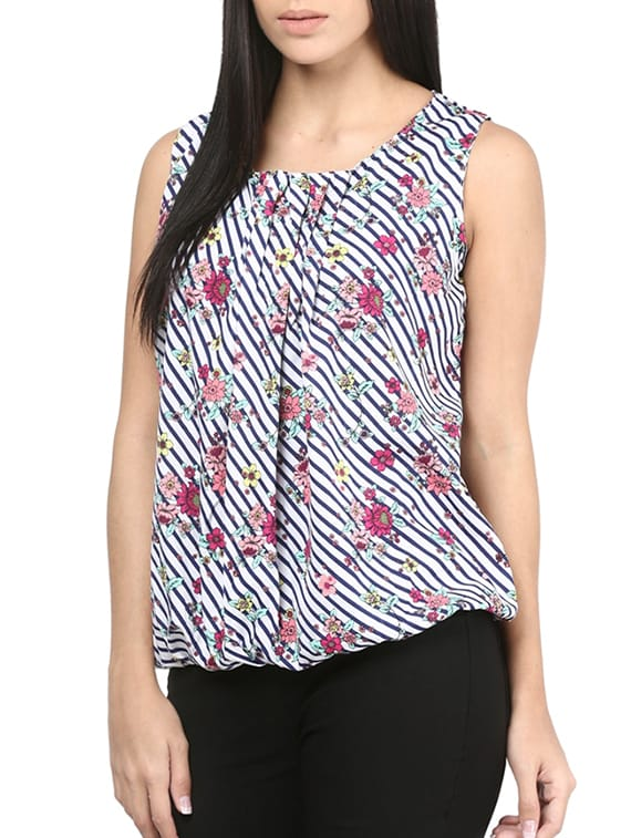 b30f74c59b27c Buy Multi Colored Poly Crepe Top by Mayra - Online shopping for Tops in  India