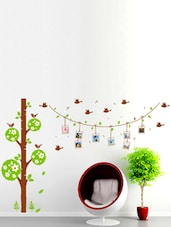 Brown Tree With Frames  Vinyl Sticker - WallDana