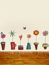 Cartoon Flower Pots  Vinyl Sticker - WallDana