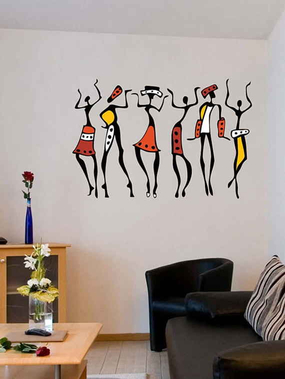 buy african dancing women wall stickerwalldana - online shopping