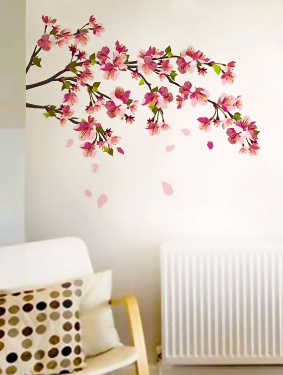 buy cherry blossom wall stickerwalldana - online shopping for