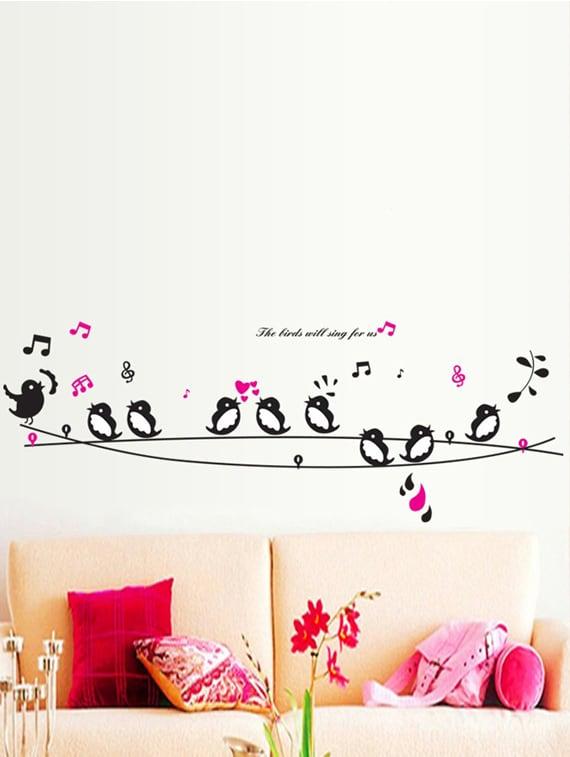 buy cute singing birds wall stickerwalldana - online shopping