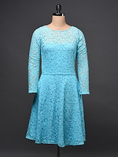 Full Sleeve A-Line Lace Dress - Eavan