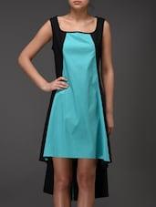 Turquoise And Black Shift Dress - Eavan