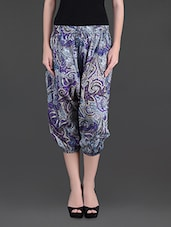 Multicoloured Printed Cotton Harem Pants - Citypret