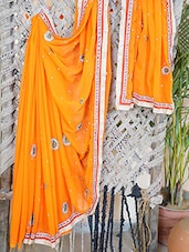 Embellished Gota Border Georgette Saree - Lazza