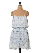 Printed Sleeveless Polyester Dress - Oxolloxo