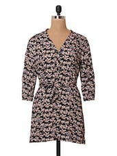 Floral Printed Cotton Tunic - Oxolloxo