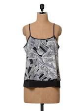 Printed Sleeveless Polyester Top - Oxolloxo
