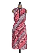 Printed Waist Elastic Sleeveless Dress - Suhilyana