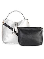 Solid Silver Embellished Handbag - LOZENGE
