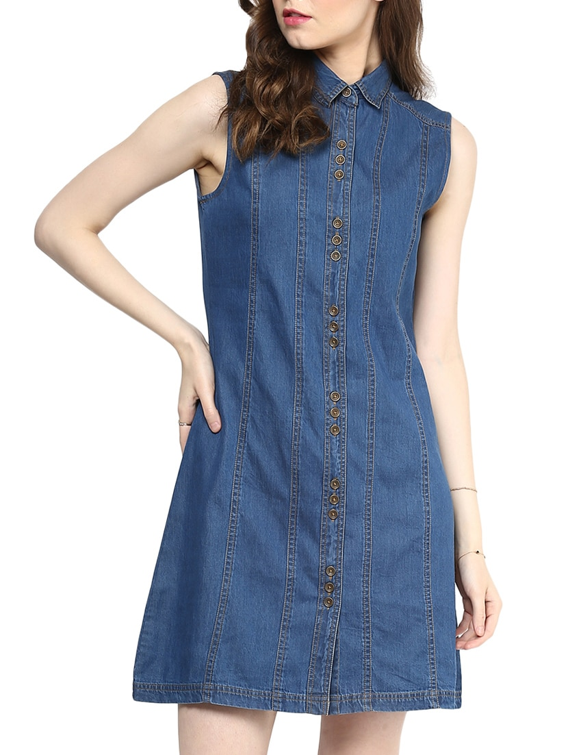 3b0992a2c6 Buy Blue Denim Dress by Stylestone - Online shopping for Dresses in India
