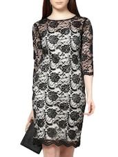 Black Bodycon Lace Dress - MARTINI