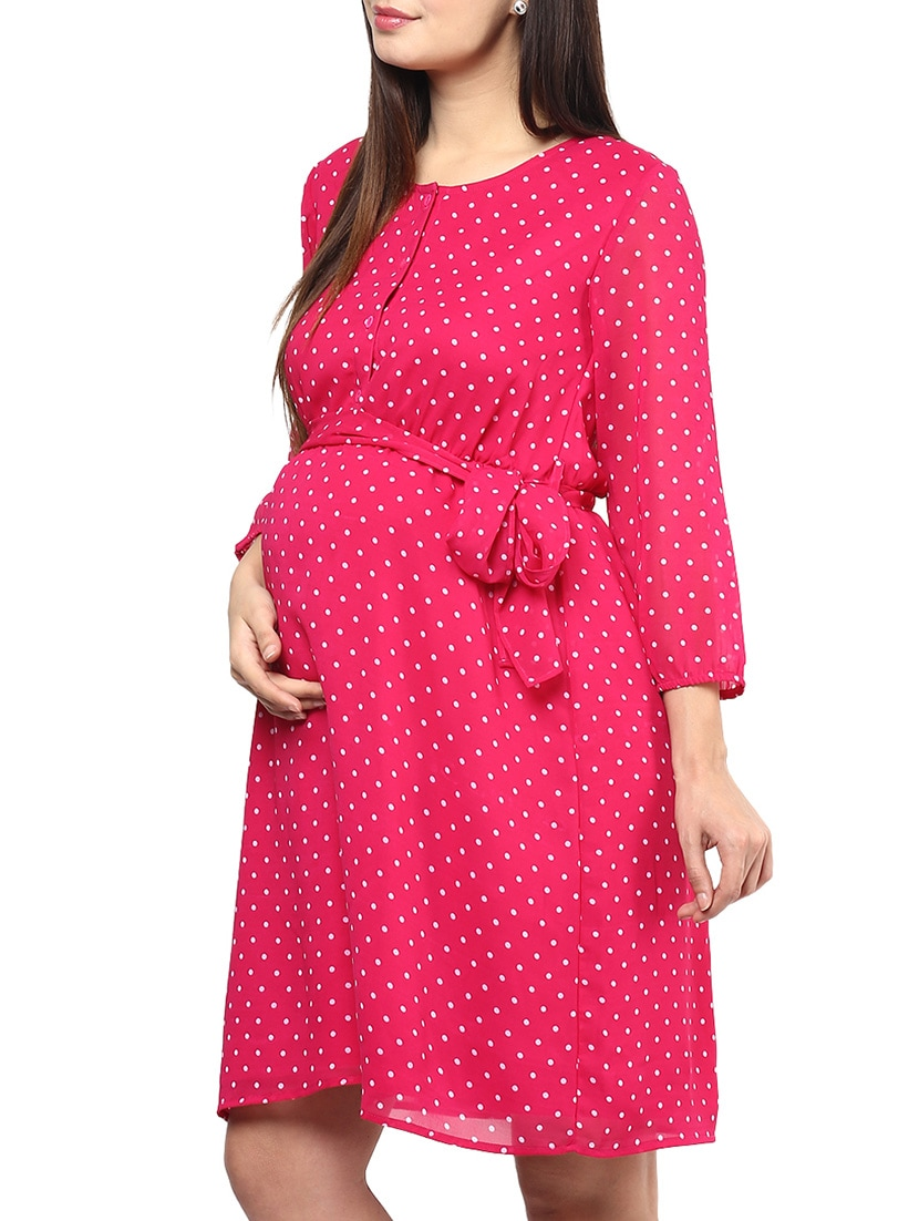 bd37646526 Pink Cotton Maternity Wear