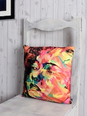 Graphic Poly Velvet Cushion Cover - RAGO