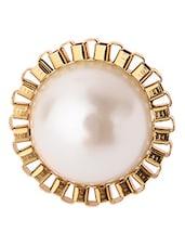 Adjustable Fancy Around The Globe White Pearl Ring - Rejuvenate Jewels