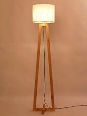 Nude Wood Floor Lamp - By