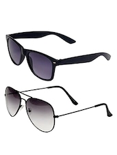 BLACK AVIATOR SUNGLASS WITH COMBO BLACK WAYFERER SUNGLASS -  online shopping for Sunglasses