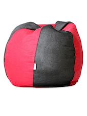 Black And Red Leatherette Bean Bag - Biggie