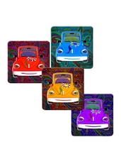 """Car Flower Design"" Printed Mdf Coaster Set - Shopkeeda"