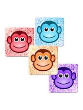 """Monkey Face Eye"" Printed Mdf Coaster Set - Shopkeeda"