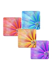"""Floral Bus Art"" Printed Mdf Coaster Set - Shopkeeda"