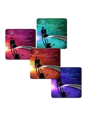 """Loveable Boy And Girl"" Printed Mdf Coaster Set - Shopkeeda"