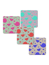 """Catel Spoon Love"" Printed Mdf Coaster Set - Shopkeeda"