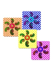 """Floral Painting Art"" Printed Mdf Coaster Set - Shopkeeda"